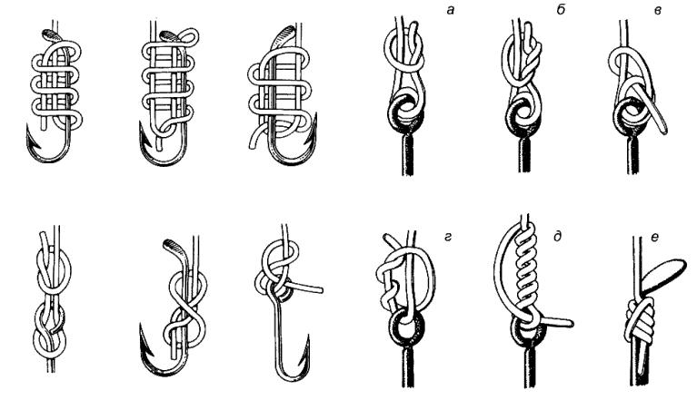 Вязание рыболовного крючка узлы 38